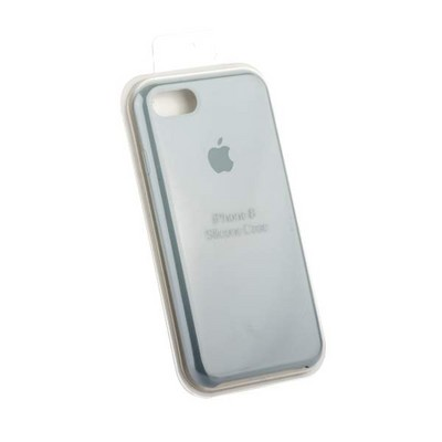 Чехол-накладка силиконовый Silicone Case для iPhone 8/ 7 (4.7) Mist Blue Синий туман №24 - фото 15685