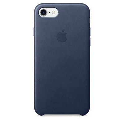 Apple leather case для iPhone 7 - Тёмно-синий - фото 7655
