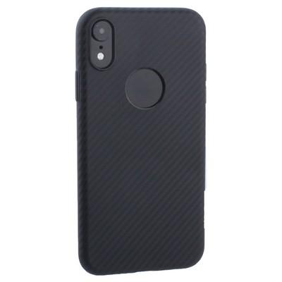 """Чехол силиконовый Hoco Delicate Shadow Series для iPhone XR (6.1"""") Черный - фото 16076"""