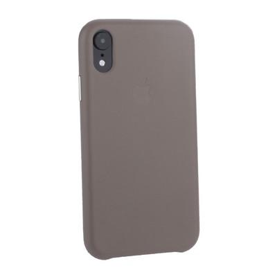 """Чехол-накладка кожаная Leather Case для iPhone XR (6.1"""") Taupe - Бежевый - фото 16103"""
