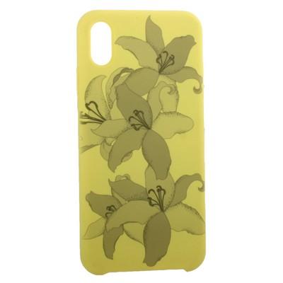 """Чехол-накладка силиконовый Silicone Cover для iPhone XS Max (6.5"""") Орхидея Желтый - фото 16236"""