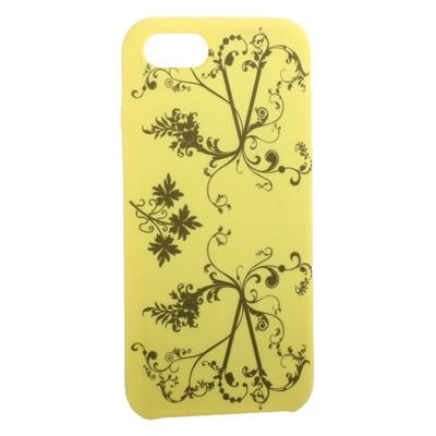 """Чехол-накладка силиконовый Silicone Cover для iPhone SE (2020г.)/ 8/ 7 (4.7"""") Узор Желтый - фото 16248"""