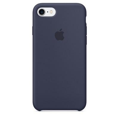 Apple silicon case для iPhone 7 - Тёмно-синий - фото 7727