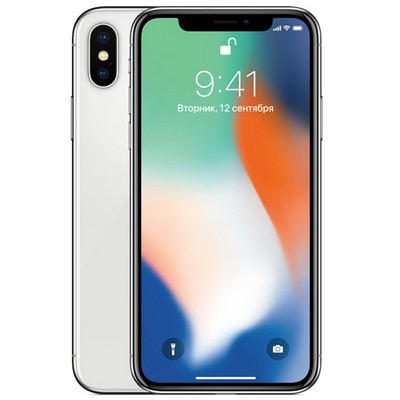 Apple iPhone X 64GB Silver EU - фото 4818
