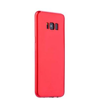 Чехол-накладка силиконовый J-case Shiny Glazed Series 0.5mm для Samsung GALAXY S8+ SM-G955 Jet Red Красный - фото 18134