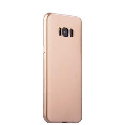Чехол-накладка силиконовый J-case Shiny Glazed Series 0.5mm для Samsung GALAXY S8+ SM-G955 Jet Gold Золотистый - фото 18135