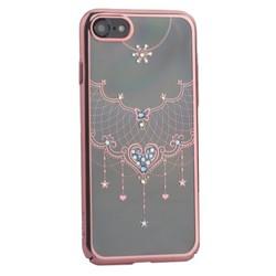 """Чехол-накладка KINGXBAR для iPhone 8/ 7 (4.7"""") пластик со стразами Swarovski 79R розовое золото (Грация)"""