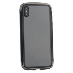 """Чехол-накладка противоударный (AERO - DRAGO) закаленное стекло для iPhone XS Max (6.5"""") Черный"""