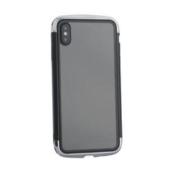 """Чехол-накладка противоударный (AERO - DRAGO) закаленное стекло для iPhone XS Max (6.5"""") Серебристый"""