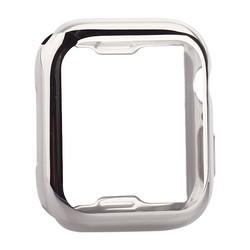 Чехол силиконовый TPU&защита экрана 360° COTEetCI для Apple Watch Series 5/ 4 (CS7060-TS) 44мм Серебристый