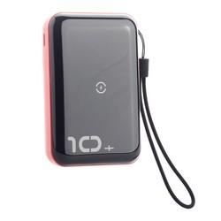 Аккумулятор внешний универсальный & беспроводное зарядное Baseus Mini S Bracket Wireless Charger (PPXFF10W-19) 10000 mAh Красн.