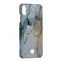 """Чехол-накладка KINGXBAR для iPhone XS Max (6.5"""") пластик со стразами Swarovski (Мрамор-светлый)"""