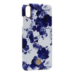 """Чехол-накладка KINGXBAR для iPhone XS Max (6.5"""") пластик со стразами Swarovski (Орхидея)"""