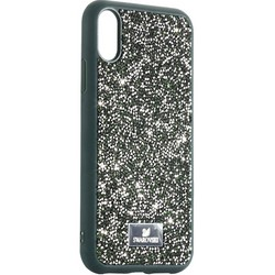 """Чехол-накладка силиконовая со стразами SWAROVSKI Crystalline для iPhone XR (6.1"""") Темно-зеленый"""