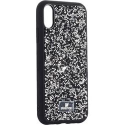 """Чехол-накладка силиконовая со стразами SWAROVSKI Crystalline для iPhone XR (6.1"""") Черный №3"""