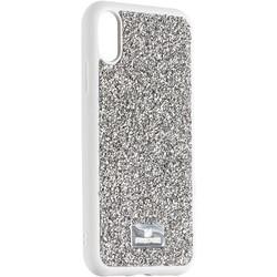 """Чехол-накладка силиконовая со стразами SWAROVSKI Crystalline для iPhone XR (6.1"""") Светло-серый"""