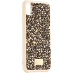 """Чехол-накладка силиконовая со стразами SWAROVSKI Crystalline для iPhone XS Max (6.5"""") Оливковый №2"""