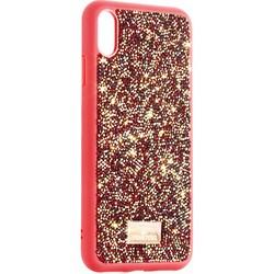 """Чехол-накладка силиконовая со стразами SWAROVSKI Crystalline для iPhone XS Max (6.5"""") Красный №2"""