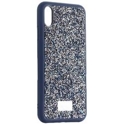 "Чехол-накладка силиконовая со стразами SWAROVSKI Crystalline для iPhone XS Max (6.5"") Темно-синий №2"