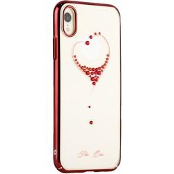 "Чехол-накладка KINGXBAR для iPhone XR (6.1"") пластик со стразами Swarovski 49F красный (The One)"