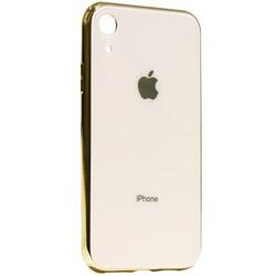 """Чехол-накладка для iPhone XR (6.1"""") стеклянный имитация задней крышки Золотой"""