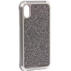 "Чехол-накладка противоударный X-DORIA Defense Lux Glitter (3X4CO5C8B) для Iphone XS Max (6.5"")Сереберистый"