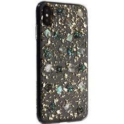 """Чехол-накладка пластиковая K-Doo Flash TPU+Lucite для Iphone XS Max (6.5"""") силиконовый борт Золотая"""
