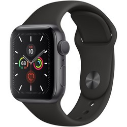 Apple Watch Series 5 GPS 40mm Space Gray Aluminum Case with Black Sport Band (MVW82)