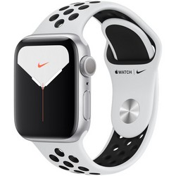Apple Watch Nike Series 5 GPS 40mm Silver Aluminum Case with Pure Platinum/Black Nike Sport Band (MX3R2)