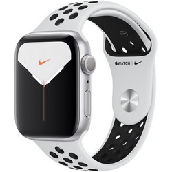 Apple Watch Nike Series 5 GPS 44mm Silver Aluminum Case with Pure Platinum/Black Nike Sport Band MX3V2