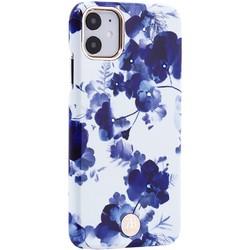"""Чехол-накладка KINGXBAR для iPhone 11 (6.1"""") пластик со стразами Swarovski (Орхидея)"""