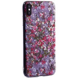 """Чехол-накладка пластиковый Fashion Case для iPhone XS Max (6.5"""") с силиконовыми бортами Розовый вид №2"""