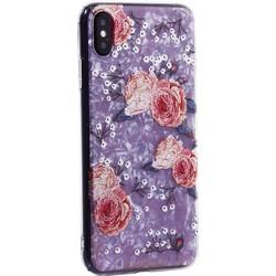 """Чехол-накладка пластиковый Fashion Case для iPhone XS Max (6.5"""") с силиконовыми бортами Розовый вид №3"""