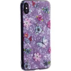 """Чехол-накладка пластиковый Fashion Case для iPhone XS Max (6.5"""") с силиконовыми бортами Розовый вид №5"""