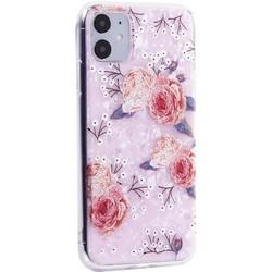 """Чехол-накладка пластиковый MItrifON для iPhone 11 (6.1"""") с силиконовыми бортами Розовый вид №3"""