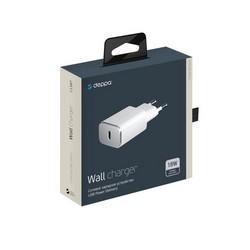 Адаптер питания Deppa USB Type-C Power Delivery 18Вт D-11387 (5В/ 3А, 9В/ 2А, 12В/ 1.5А) Белый