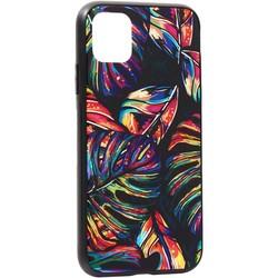 """Чехол-накладка закаленное стекло Deppa Glass Case D-87259 для iPhone 11 (6.1"""") 2.0мм Листья"""