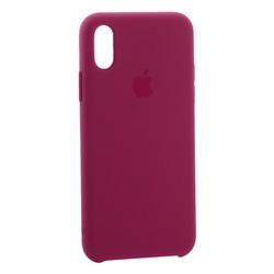 "Чехол-накладка силиконовый Silicone Case для iPhone XS/ X (5.8"") Темная фуксия №54"