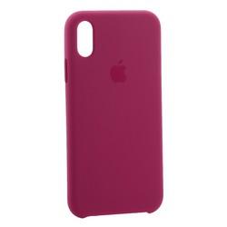 "Чехол-накладка силиконовый Silicone Case для iPhone XR (6.1"") Темная фуксия №54"