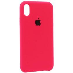 """Чехол-накладка силиконовый Silicone Case для iPhone XR (6.1"""") Bright pink Ярко-розовый №47"""