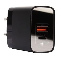 Адаптер питания Baseus Mirror Lake 18W PPS Digital Display Quick Charger A+C EU (USB+Type-C: 5V 3.0A Max) CCJMHC-A01 Черный