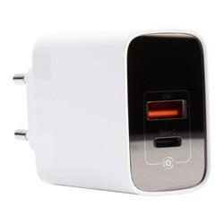 Адаптер питания Baseus Mirror Lake 18W PPS Digital Display Quick Charger A+C EU (USB+Type-C: 5V 3.0A Max) CCJMHC-A02 Белый