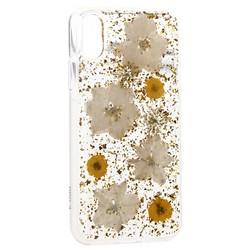 "Чехол-накладка силиконовая K-Doo Flowers TPU+Dried Flowers+Lucite для Iphone XS Max (6.5"") Желтая"