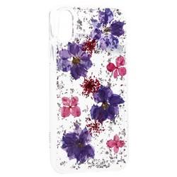 """Чехол-накладка силиконовая K-Doo Flowers TPU+Dried Flowers+Lucite для Iphone XS Max (6.5"""") Сиреневая"""