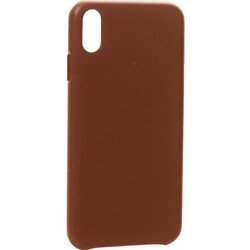 "Чехол-накладка кожаная Leather Case для iPhone XS Max (6.5"") Saddle Brown Светло-коричневый"