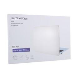 Защитный чехол-накладка HardShell Case для Apple MacBook Air 13 (2018/2019/2020г.г.) A1932/A2179 матовая прозрачная