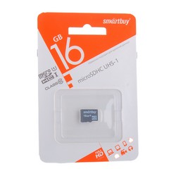 Карта памяти SmartBuy micro SDHC Card 16Gb Class10