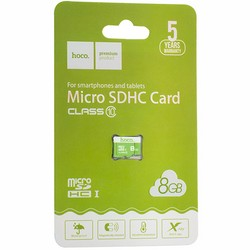 Карта памяти Hoco micro SDHC Card 8Gb Class10