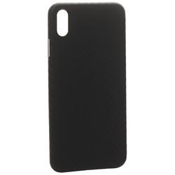 "Чехол-накладка карбоновая K-Doo Air Carbon 0.45мм для Iphone XS Max (6.5"") Черная"