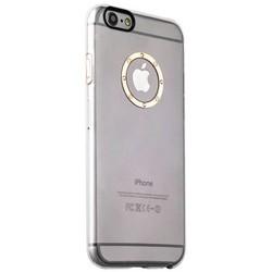 Накладка пластиковая iBacks Transparent Case with Diamond Ring для iPhone 6s Plus (5.5) - (ip60219) Champagne Gold Ring